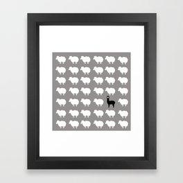Don't be a sheep, Be a Llama Framed Art Print