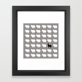 Don't be a sheep, Be a Llama Framed Art Print