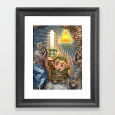 IRL Zelda Link Framed Art Print