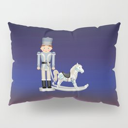 Toy Soldier with Rocking Horse on Christmas Eve Pillow Sham