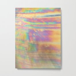 Holographic colorful rainbow stripes Metal Print