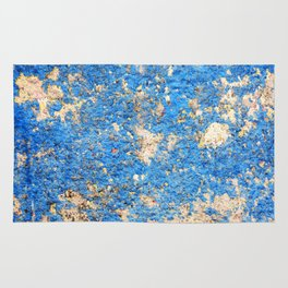 Textures in Blue Rug