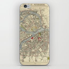 Map of St. Petersburg 1883 iPhone Skin