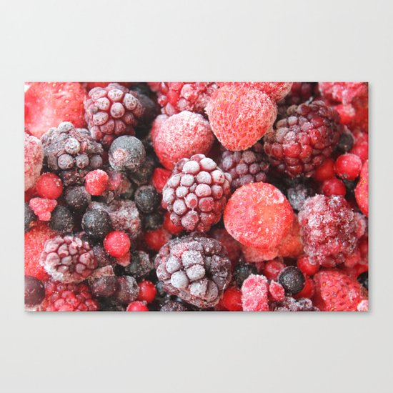 Frozen Berries Canvas Print