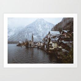 Winter in Hallstatt Art Print