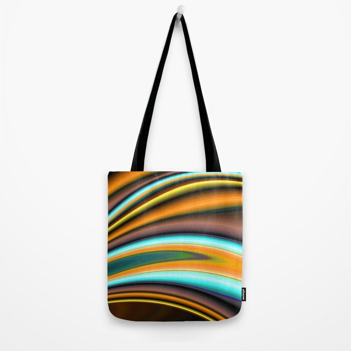 Abstract Fractal Colorways 01BR Tote Bag