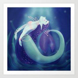 Pearl Mermaid Art Print