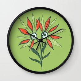 Cute Eyes Flower Monster Wall Clock