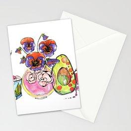Avocado, Pansy and Valentino Stationery Cards