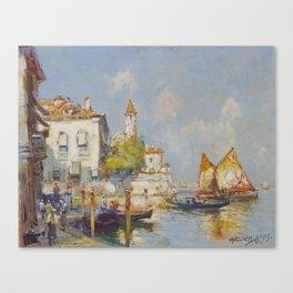 Arthur Vidal Diehl(American, 1870-1929)On the Lido - Venice, 1925 Canvas Print
