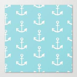 Anchor - mint blue Canvas Print