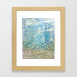 SEA FLOOR BUDDHA-  calm within Framed Art Print