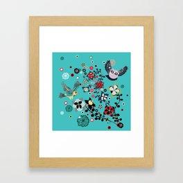 owl and lark Framed Art Print