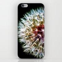 dandelion iPhone & iPod Skins featuring Fractal dandelion by Mark Nelson