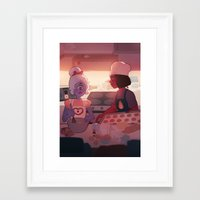 baking Framed Art Prints featuring baking by sleepysenshi