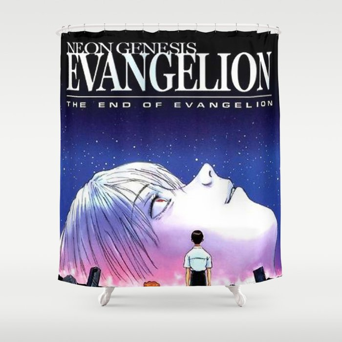 The End Of Evangelion Shower Curtain