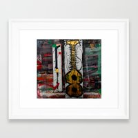 reggae Framed Art Prints featuring reggae four by songs for seba