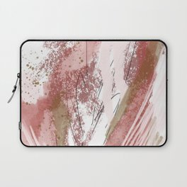 Sugar and Spice: a minimal, abstract mixed-media piece in pink and brown by Alyssa Hamilton Art Laptop Sleeve