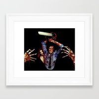 evil dead Framed Art Prints featuring evil dead  by Official Nicolas Cage Cats