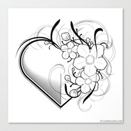 Blossom Heart Canvas Print