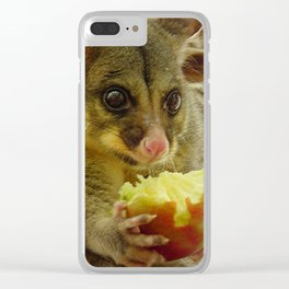 Possum Apple Clear iPhone Case