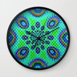 Blue & Green Fireballs Wall Clock