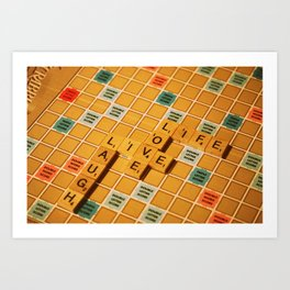 Fun with Letters. Art Print