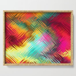 Colorful glass pattern Serving Tray