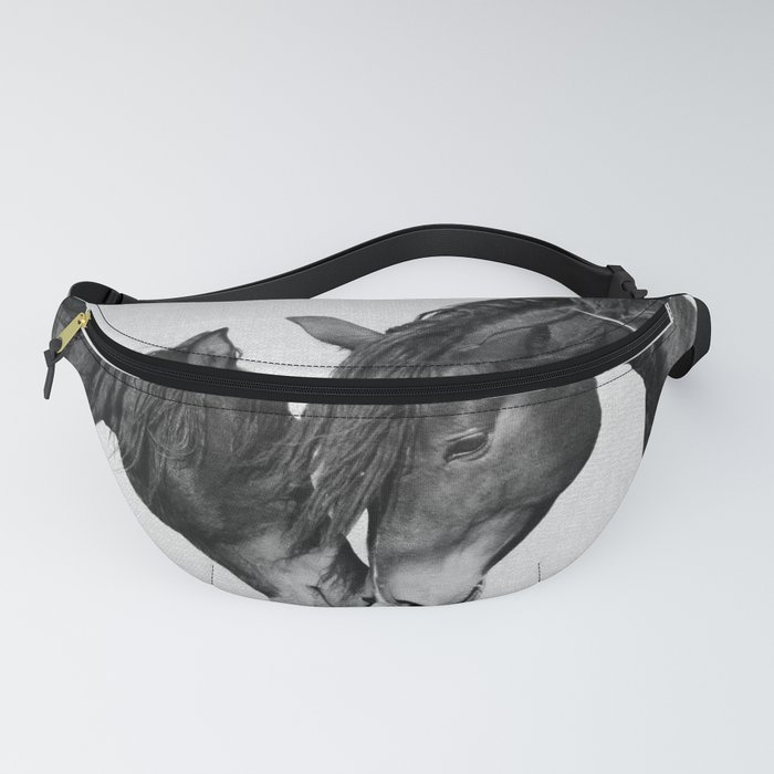 Horses - Black & White 4 Fanny Pack