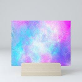 Colourful nebula Mini Art Print
