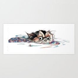 Fredrick the Feline Art Print
