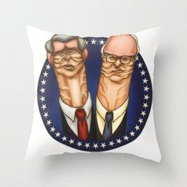 Dick & Bush Throw Pillow