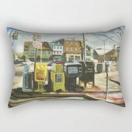 Newspaper Depot on America's Cup Avenue, afternoon sun, Fall 1997 Rectangular Pillow