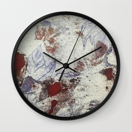 Grunge Leaves Wall Clock