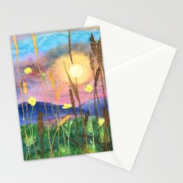 Flowers in a Field Stationery Cards