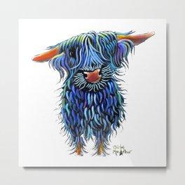 Scottish Highland Cow ' THoMaS ' by Shirley MacArthur Metal Print