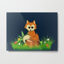 Fox Pose Metal Print