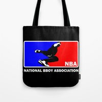 nba Tote Bags featuring NBA National Bboy Association by Funky House