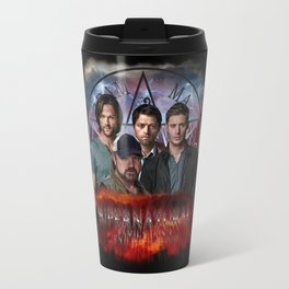Supernatural Family dont end with blood 4 Travel Mug