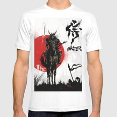 Samurai Master MEDIUM Mens Fitted Tee White