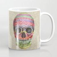 navajo Mugs featuring Navajo Skull  by Terry Fan