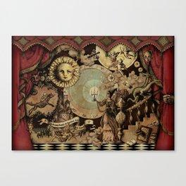 The mediaeval theater Canvas Print