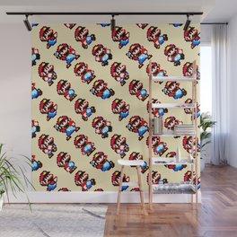 Super Mar!o World   vanilla sky   retro gaming pattern Wall Mural