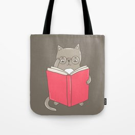 Cat booklover Tote Bag