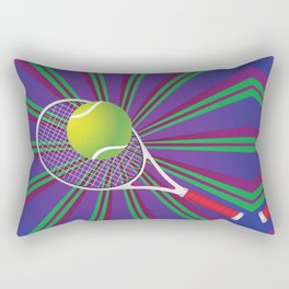 Tennis Ball and Racket Rectangular Pillow