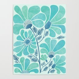 Himalayan Blue Poppies Poster
