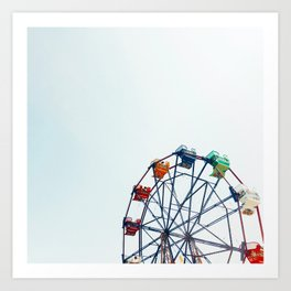 ferris wheel - balboa fun zone, newport beach, CA Art Print