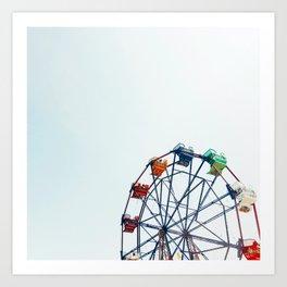 ferris wheel - balboa fun zone, newport beach, CA Art Print