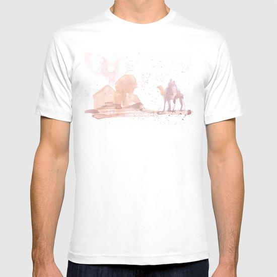 Watercolor landscape illustration_Egypt T-shirt
