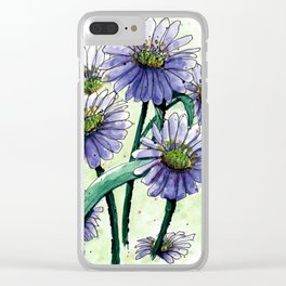 Alpine Aster Clear iPhone Case